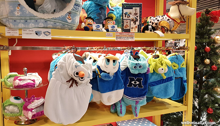 Disney themed pet costume at Pet Paradise Plus, Yodobashi-Umeda, Osaka, Japan pet shop