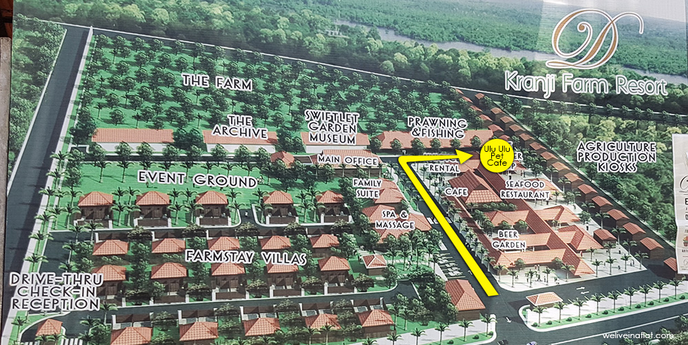 location map of ulu ulu pet cafe at d'kranji farm resort