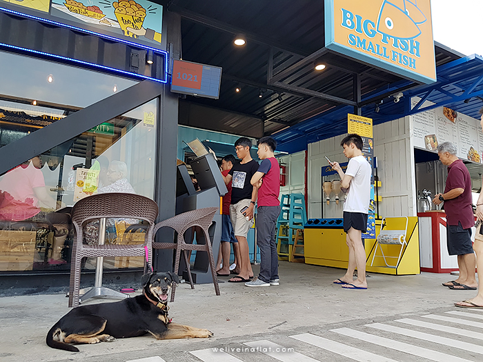 dog-friendly big fish small fish fish and chips shop front - Big Fish Small Fish at Punggol Tebing Lane Container Park | Dog-Friendly Cafes